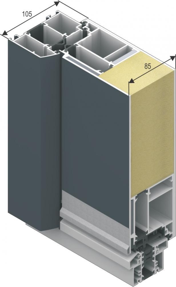 Aluminiumtüren mit Seitenteil