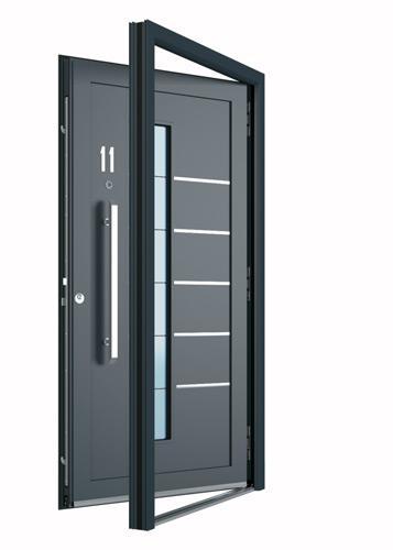 Einbau von Eingangstür Aluminium
