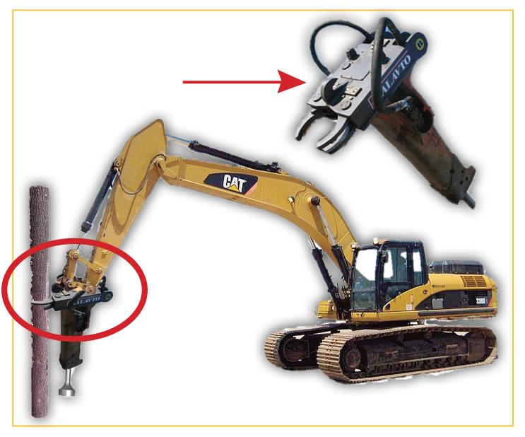 Hydraulikhammer für Bagger Funktion