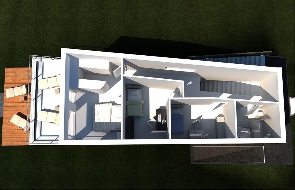 holzhaus modern einfamilienhaus grundriss modern zu attraktiven preisen. Black Bedroom Furniture Sets. Home Design Ideas