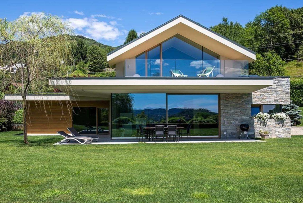 fertighaeuser moderne architektur mit glas