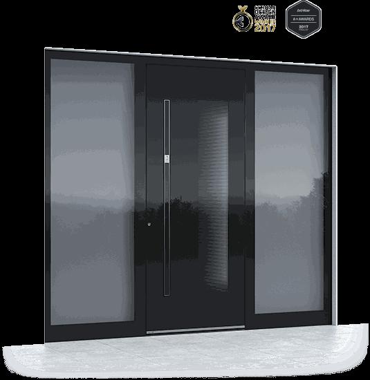 Aluminium Haustüren mit Fingerscan
