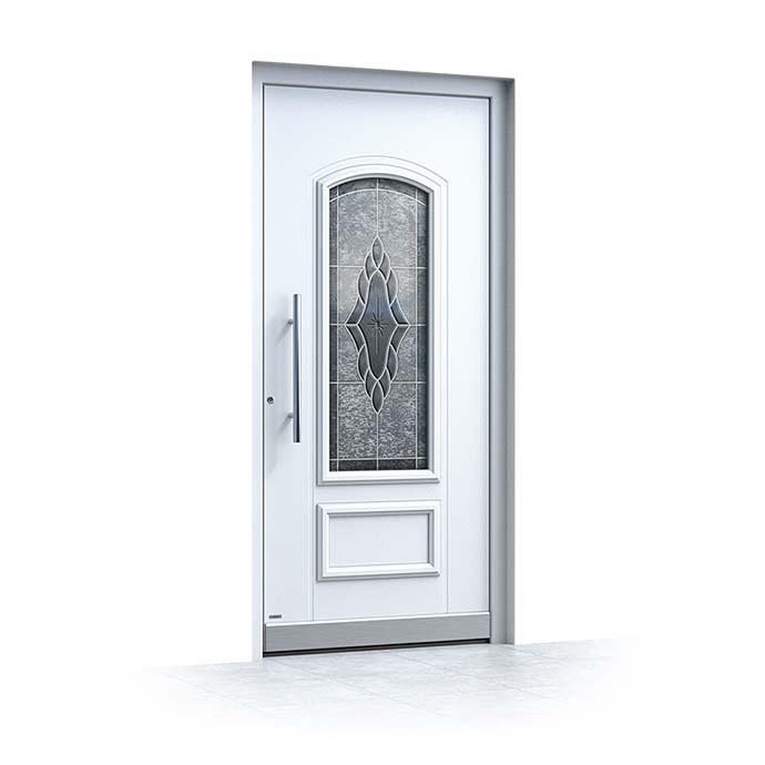 Haustür weiß Aluminium Pirnar