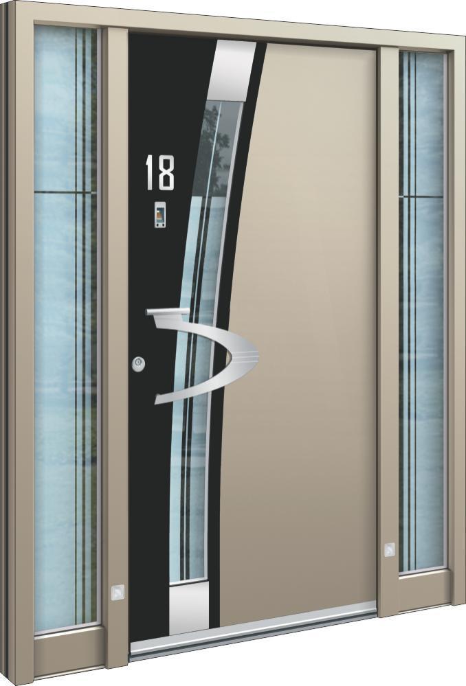 Bekannt Haustüren modern grau kaufen - moderne Haustüren mit Glas und NL48