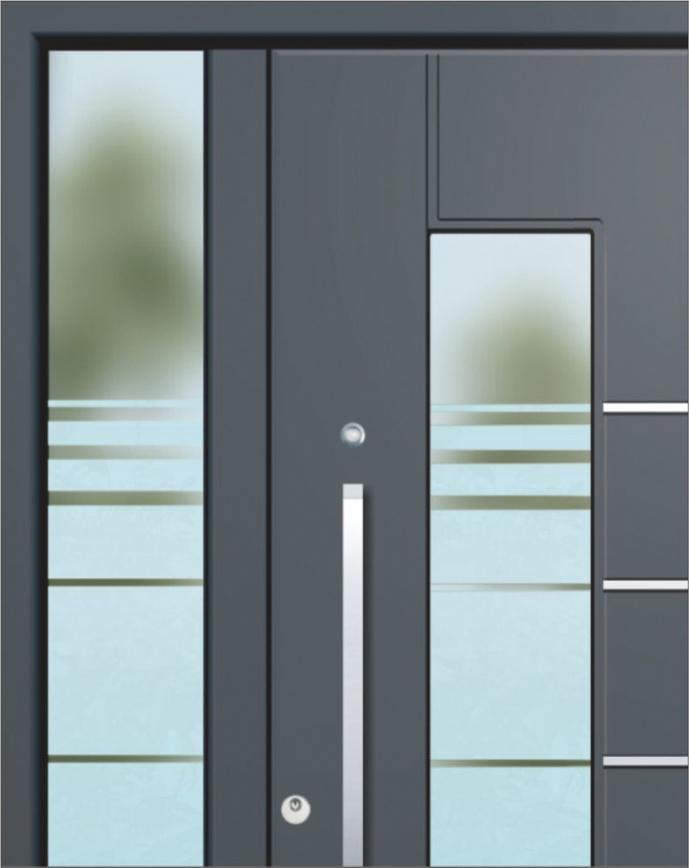 Haustüren Aluminium grau (oder also weiß)