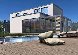 Modernes Haus bauen - modernes Architektenhaus zu niedrigen Kosten