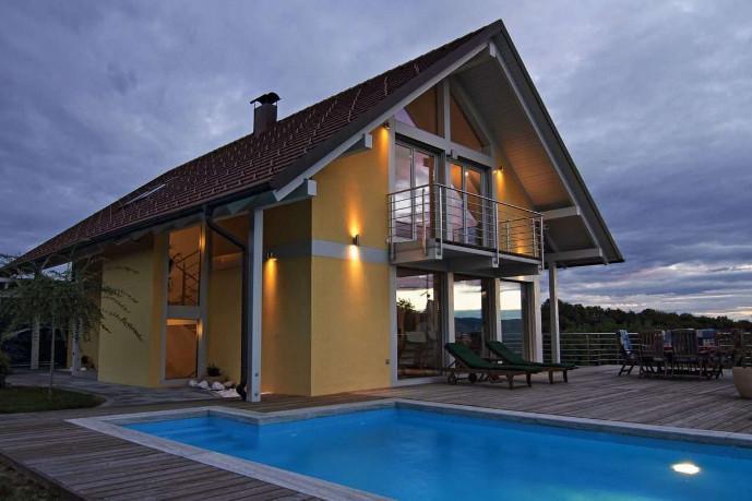 Einfamilienhaus Moderne Designs R Neubau Mit Flachdach Ansehen Jetzt