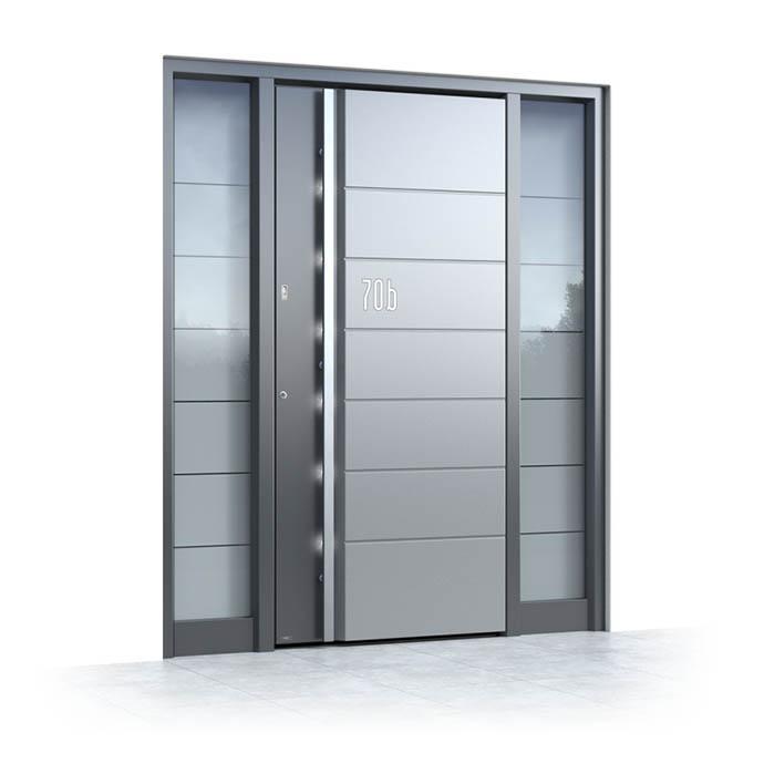 Alu Haustüren mit Glas Seitenteil