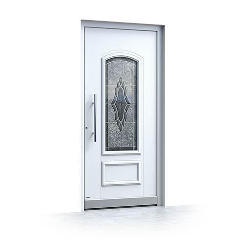 Alu Haustüren Weiß nach außen öffnend