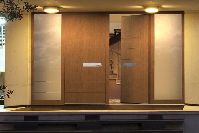 Hervorragend Moderne Haustüren mit viel Glas - Alu oder Haustür Holz modern YD68