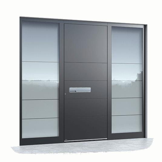 Haustüren Mit Seitenteil Oder Mit 2 Seitenteilen In Weiß Oder Mit Glas