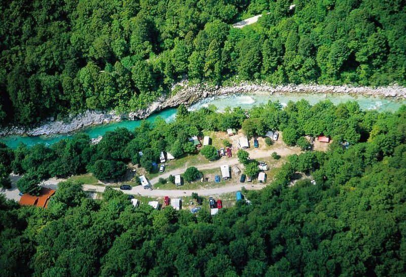 Camping Soca Slowenien in der Natur