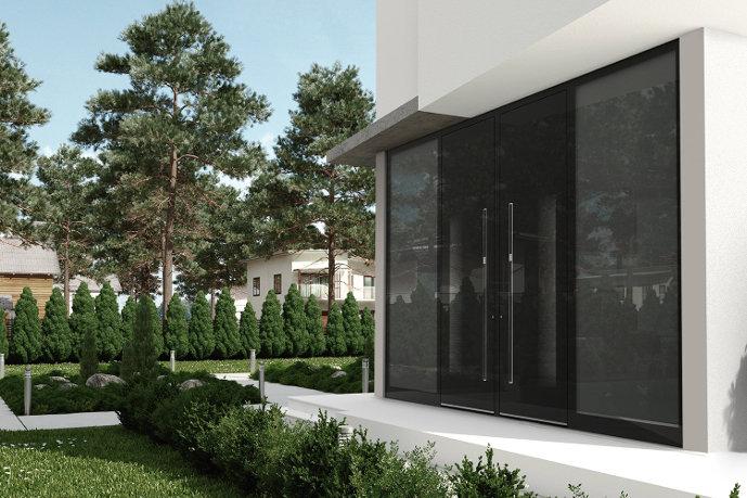 alu haust ren mit seitenteil oder mit 2 seitenteilen. Black Bedroom Furniture Sets. Home Design Ideas